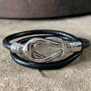 Women's Double Wrap Leather Bracelet